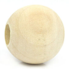 "BD 20PCs Wooden Spacer Beads Round Ball Natural 25mm Dia.(1"")"