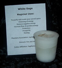 WHITE SAGE CRYSTAL JOURNEY Candles Manifestation candle PURIFICATION Cleansing