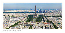 Poster Panorama Paris France Eiffel Tower View Tour Montparnasse Fine Art Print