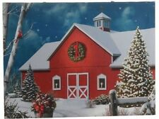 Barn Lighted Picture RAZ Canvas battery power  wd 3111351 NEW RAZ Christmas
