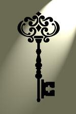 Shabby Chic Key Stencil Vintage Damask Rustic Mylar style A5 148x210mm wall