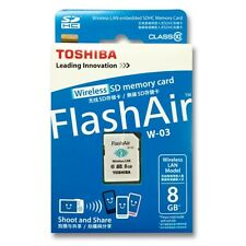 NEW Toshiba Flashair III 8G 8GB W03 Wireless WIFI SD SDHC Class 10 Memory Card