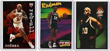 3 COUNT OF 1990s NIKE & COSTACOS POSTER CARDS DENNIS RODMAN AD