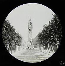 Glass Magic Lantern Slide CLOCK TOWER GRAVESEND KENT C1900 ENGLAND