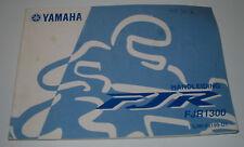 Handleiding Betriebsanleitung Yamaha FJR 1300 Stand Oktober 2001!