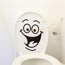 Removable DIY Toilet Seat WC Bathroom Art Vinyl Home Decals Decor Wall Sticker