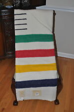 HUDSON  BAY  BLANKET/NEW 4 POINT MULTI STRIPE (TWIN/FULL)
