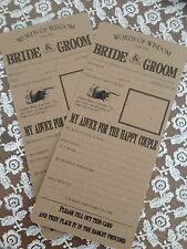 50 vintage/shabby Chic Boda Cuadro game/trivia Guest Libs