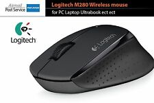 Logitech M280 Wireless Gaming Mouse Laser Optical Sensor unifying receiver BLACK