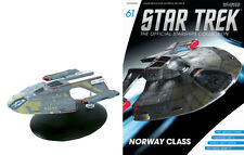 #61 Star Trek Norway Class Die Cast Metal Ship-UK/Eaglemoss w Mag-FREE S&H