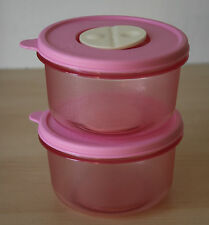 Tupperware 2 Rock N Serve Microwave Container 1 1/2 Cup Pink  New