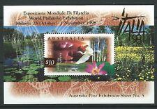 AUSTRALIA 1998 $10 BIRD MINIATURE SHEET OVERPRINTED  ITALIA '98 UNMOUNTED MINT
