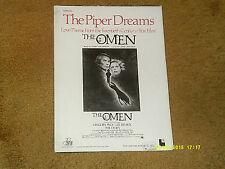 Jerry Goldsmith The Piper Dreams sheet music from film THE OMEN 1976 4 pages VG+