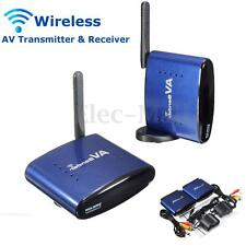 5.8GHz Wireless AV TV DVR Transmitter Receiver Sender Audio Video IR Remote RCA