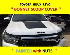 BONNET SCOOP COVER WITH STANLESS SCREW FOR TOYOTA HILUX REVO 2015-