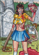 5finity Zombies vs Cheerleaders 2013 Sketch Card by Adam Cleveland