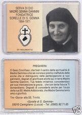 0534 SERVA DI DIO MADRE GEMMA GIANNINI SANTINO CON RELIQUIA RELIC HOLY CARD