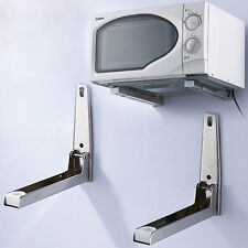 Quality Microwave Oven Universal Shelf Wall Bracket Adjustable Foldings Durables