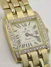 Arte d'Oro  1/2 CTTW Diamond 18K Polished and Satin Ladies Luxary Watch