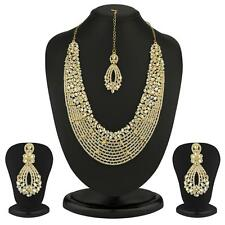 Sukkhi Dazzling Gold Plated Australian Diamond Necklace Set(2100NADL3000)