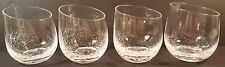 Pier 1-Angled Rim-Mouth Blown-Crackled Glass-Stemless Wine Glasses-c.2007-2017