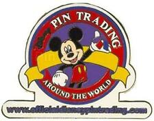 RED Border OFFICIAL PIN TRADING Website LOGO MICKEY 2003 WDW Disney PIN