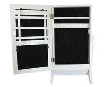 62cmH Jewellery Cabinet Cupboard Organiser Storage Box Vanity Mirror Table Stand