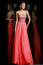 Sherri Hill 1539 Dress Size 8 Coral NWT