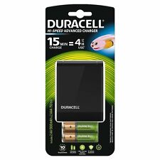 Duracell CEF27 Fast Battery Charger + 2 AA + 2 AAA Rechargeable Batteries New UK