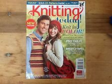 Knitting Today ! Magazine Aug/Sept 2011 25+ patterns Knit in Color Edward bear