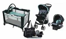 New Graco Baby Stroller, Car Seat, Portable Care Center Playard, Diaper Bag