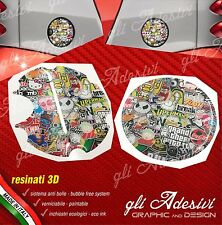 2 Adesivi 3D Tappo Benzina presa aria BRABUS Smart for two 450 452 Sticker Bomb