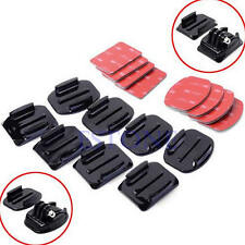 Lot 12Pcs Flat Curved Helmet Accessories Adhesive Mount For Gopro Hero 1/2/3 /3+
