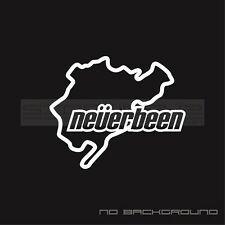 Neverbeen Nurburgring Decal Sticker emblem monster racing seat jdm Pair