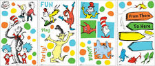 DR SEUSS Cat in Hat wall stickers Things 1 & 2 Horton 56 decals Fox Grinch Kids