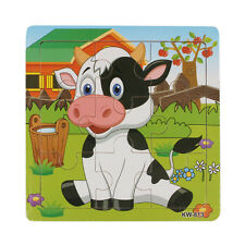 New Wooden Dairy Cow Jigsaw Toys For Kids Education&Learning Puzzles Toys US