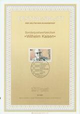 BRD ETB Ersttagsblatt 1987 Wilhelm Kaisen Mi.Nr. 1325