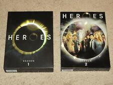 Heroes - Complete Season 1 & 2 Box Sets DVD - ALL EPISODES - 11 Discs MINT