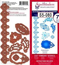 Spellbinders Lot 7 Dies Damask Accents Lacey Border Scrapbook Cut Emboss Stencil