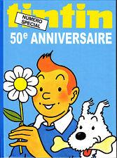 TINTIN 50EME ANNIVERSAIRE VERSION ALBUM CARONNE 42 PAGES EN COULEURS