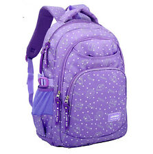 Women Girls Polyester Backpack School Satchel Shoulder Book Bag Travel Rucksack
