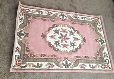 Lovely Shensi Pink Traditional Chinese Design Rug 100% Wool -115x176cm / 45x69in