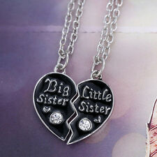 Sister's Fashion Broken Heart Pendant Necklace Popular Sale F