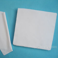 100pc Quality Neddle-2 White Eyeglass Glasses Microfiber Cleaning Cloth 15x14cm