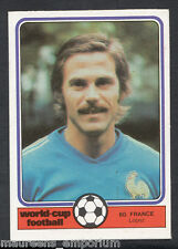 (ZZ) Monty Gum World Cup 1982 Football Card No 60 - Lopez - France