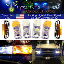 Reflector style LED xenon white parking light and amber/yellow turn signal combo