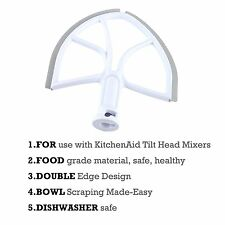 6qt. Beater Blade for Kitchen Aid Stand Mixer Metro Design Flat Beater Gray