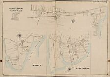 1902 GOOD GROUND, EAST QUOGUE, QUIOGUE, SUFFOLK, LONG ISLAND NY, COPY ATLAS MAP