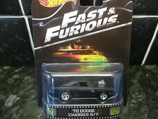 HOTWHEELS RARE FAST AND FURIOUS 70 DODGE CHARGER R/T REAL RIDER RUBBER TYRES