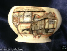 LANCASTER & SANDLAND THE JOLLY DROVER OPEN SUGAR BOWL 6 OZ ENGLISH VILLAGE SCENE